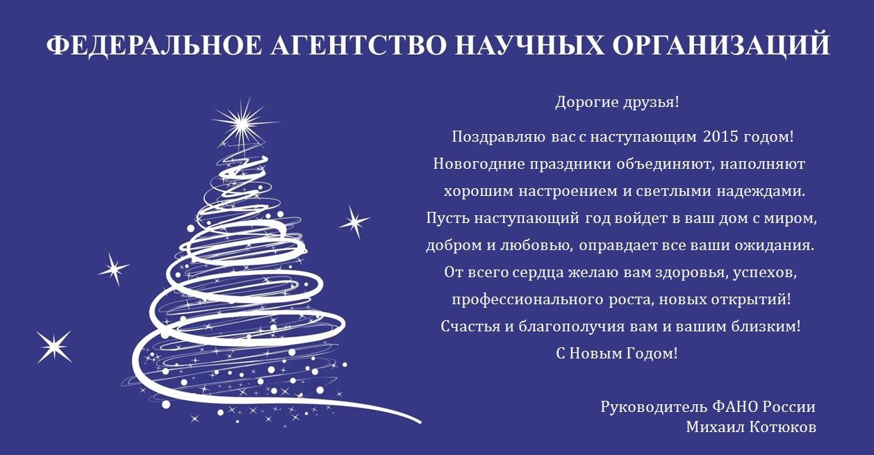 Новогодние поздравления от директора компании